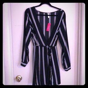 Xhilaration black/white wrap dress